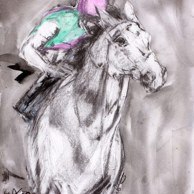 "Frankel, Charcoal wash, 11""x16"", Sold - 2013"