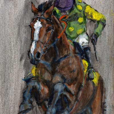 "Kauto Star, Oil pigment on canvas, 16""x20"", Sold - 2013"