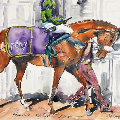 "Sparville, Pre Parade Ring, Ink water colour, 22""x30"", Commission Nergy, Sold - 2013"