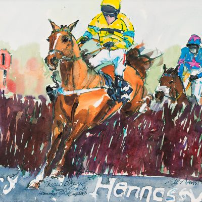 "Triolo D'Alene, Barry Geraghty, Ink water colour, 16""x23"", Sold - 2013"