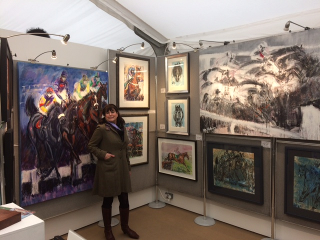 Exhibiting at 2017 Cheltenham Festival - Elizabeth Armstrong Equine Artist