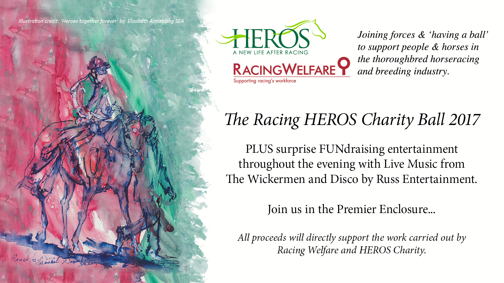 Racing Welfare & Heros Charity Ball 2017