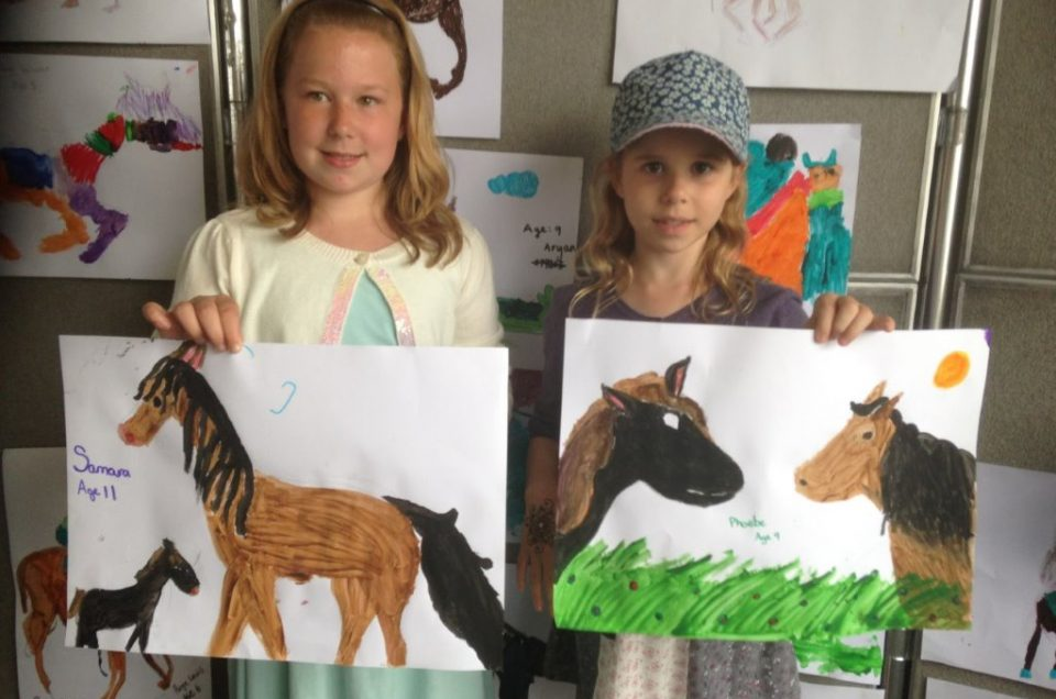Children's Painting Workshop at Newbury Racecourse, 30th July - Elizabeth Armstrong