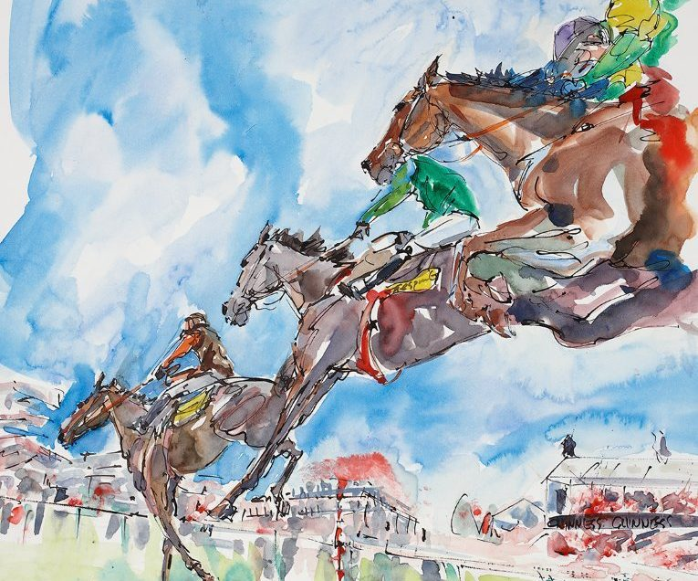 Elizabeth Armstrong Equine Artist - Long Run