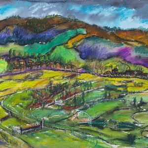 Cleeve Hill Cheltenham Limited Edition Print - Elizabeth Armstrong Fine Art