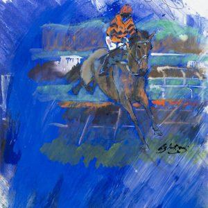 Blue Thistlecrack - Elizabeth Armstrong Equine Artist