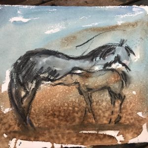 Chill Time - Elizabeth Armstrong Equine Art