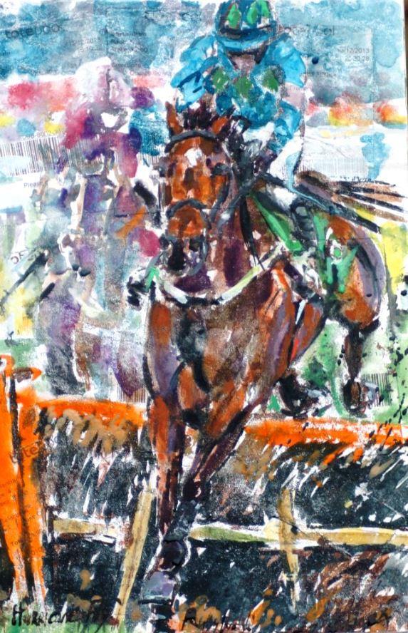Hurricane Fly - Elizabeth Armstrong Equine Artist