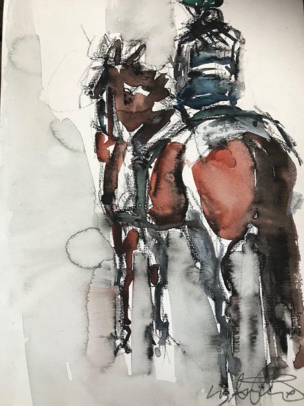 Pensive - Elizabeth Armstrong Equine Art