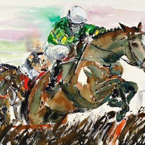 The Champ at Work AP McCoy - Elizabeth Armstrong Equine Artist