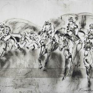 The Decent Drop 2 - Elizabeth Armstrong Equine Art