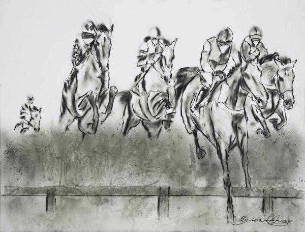 The Decent Drop - Elizabeth Armstrong Equine Artist