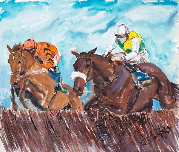 The Last Flight - Eliazabeth Armstrong Equine Artist