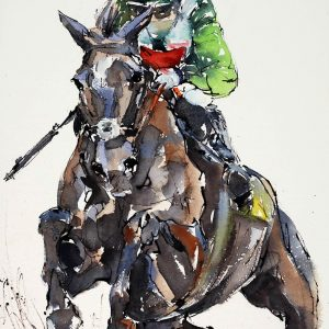 The Mighty Denman - Elizabeth Armstrong Equine Artist