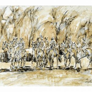 The Waiting Game - Elizabeth Armstrong Equine Artist