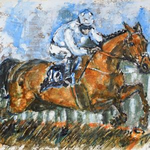 Honeysuckle and Rachael Blackmore Cheltenham 2021 - Elizabeth Armstrong Equine Art